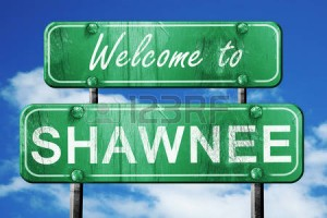 shawnee road sign